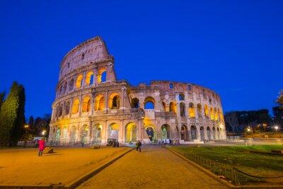 Poster Colosseo di notte a Roma, Italia
