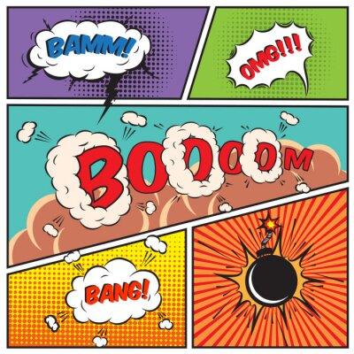 Poster Comic bolle di discorso