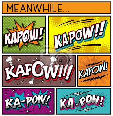 Poster Comic Book Collection-KAPOW