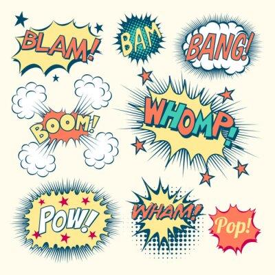 Poster Comic Book Effetti sonori