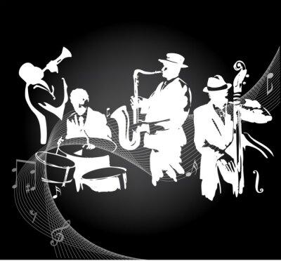 Poster Concerto Jazz sfondo nero