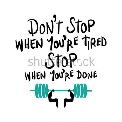 Poster Concetto di motivazione di culturismo di forma fisica di palestra di allenamento / progettazione della stampa di vettore