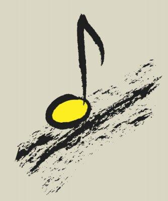 Poster concetto di musica nota musicale, design del logo