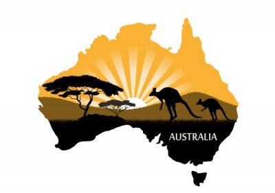 Poster Continente australiano