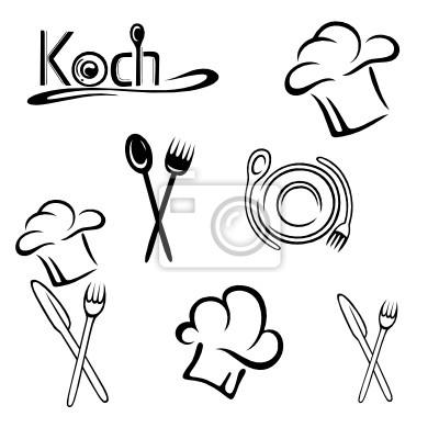Cook, cappello da cuoco, cucina, cucchiaio da cucina, vector ...