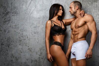 Poster Coppia sexy in biancheria intima