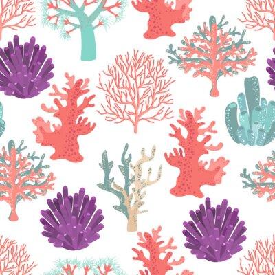 Poster Coralli seamless pattern