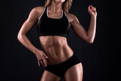 Poster Corpo di fitness girl