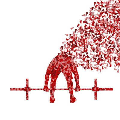 Poster Crossfit uomo sollevamento pesi vector background concetto