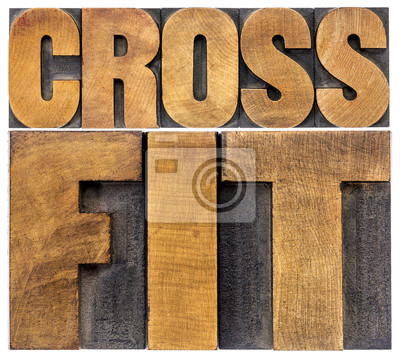 Poster crossfit word abstract