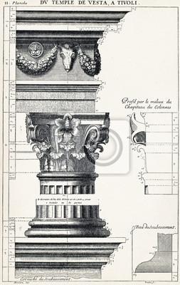 Poster Dal tempio di Vesta, a Tivoli