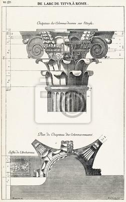 Poster Dalla arco di Tito, a Roma