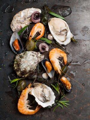 Poster Deliziosi piatti di pesce fresco