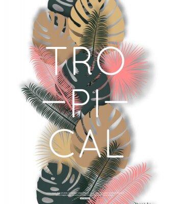 Poster Design tropicale per banner, poster. Illustrazione vettoriale.