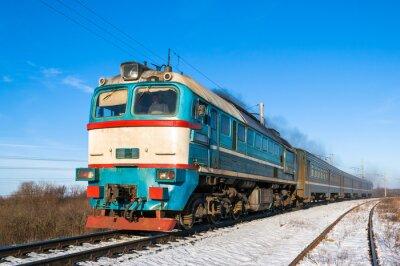 Poster Diesel treno locale in Ucraina.