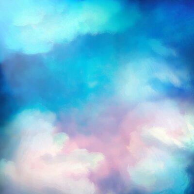 Poster Dipinto ad acquerelli Sky Vector Background