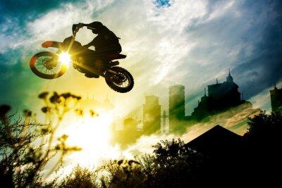 Poster Dirt Bike salto Urbano