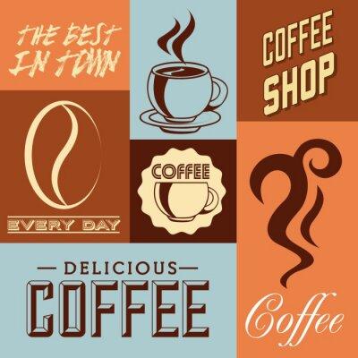 Poster disegno delizioso caffè