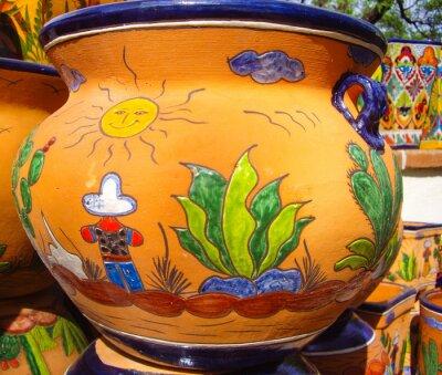 Poster disegno Desert Vista su ceramiche messicane