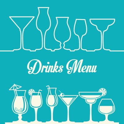 Poster Disegno Drink