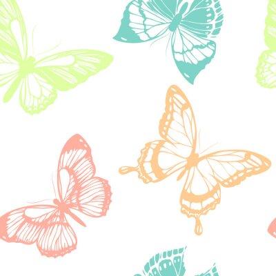 Poster disegno farfalle