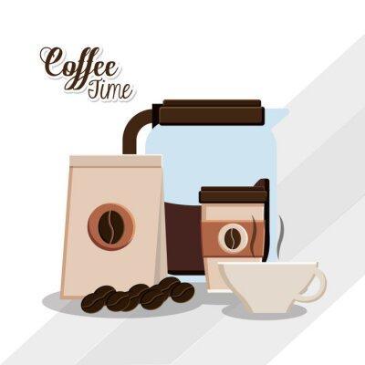 Poster disegno Tempo di caffè