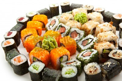 Poster Diversi tipi di Maki Sushi