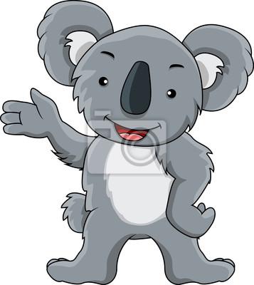 Divertente koala cartone animato manifesti da muro u poster
