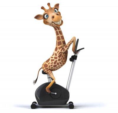 Poster Divertimento giraffa