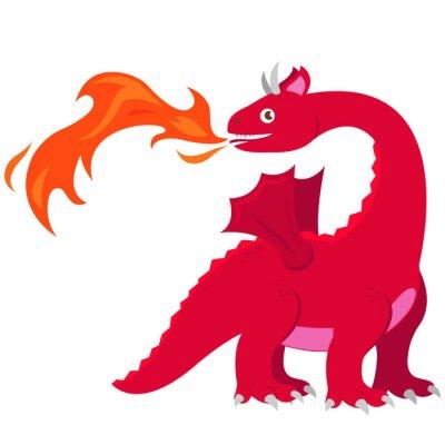 Poster Drago di respirazione del fuoco