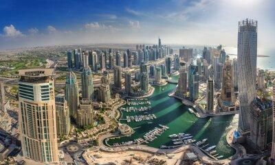 Poster DUBAI, Emirati Arabi Uniti - 10 OTTOBRE: Costruzioni moderne a Dubai Marina, Dubai