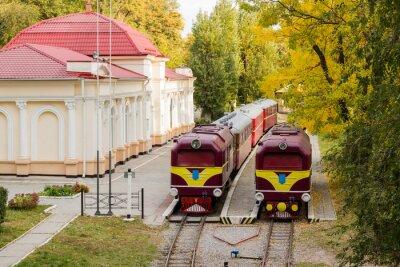 Poster Due vecchia locomotiva