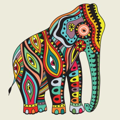 Poster Elefant. illustrazione di vettore