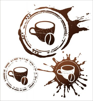 Poster elementi di design caffè. illustrazione vettoriale
