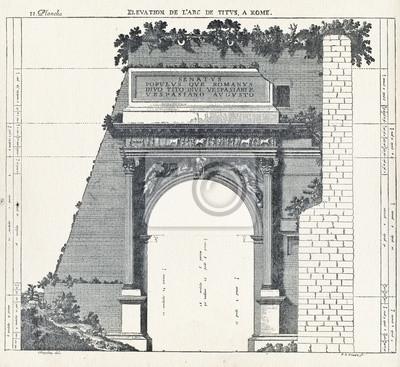 Poster Elevazione L'Arco di Tito a Roma
