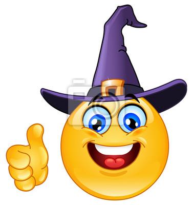 Emoticon con il cappello della strega manifesti da muro • poster ... ac96ebe52c34