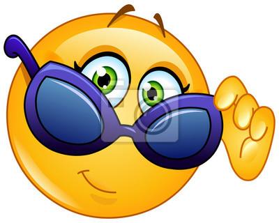 Emoticon guardando oltre gli occhiali da sole manifesti da muro ... b77e774ffcbd