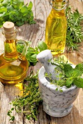 Poster erbe e olio