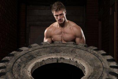 Poster Esercizio Tire allenamento
