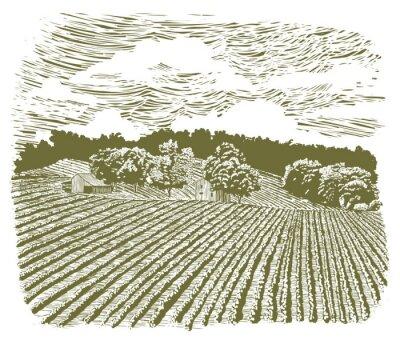 Poster Farm xilografia sulla Highway 60