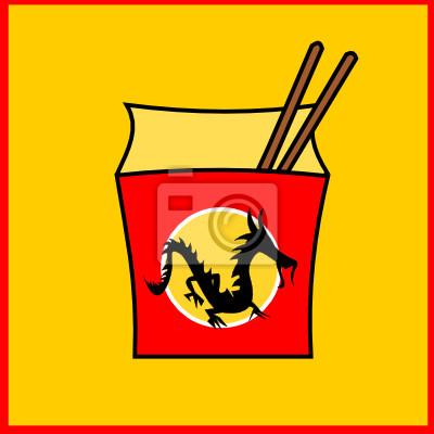 Poster Fastfood cinese ristorante logo