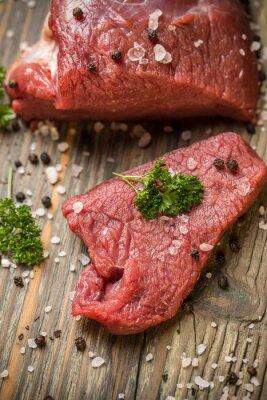 Poster Fetta di carne bovina