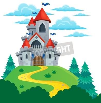 Poster Fiaba castello tema immagine 2 - eps10 illustrazione vettoriale.