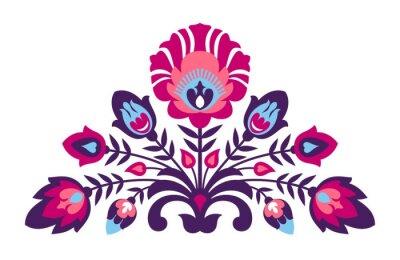 Poster fiori Folk Papercut stile
