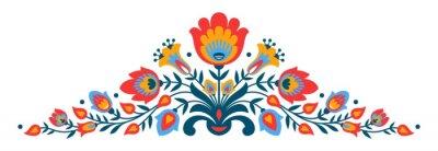 Poster fiori popolare polacca Papercut stile
