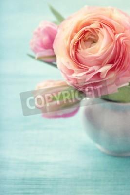 Poster Fiori rosa in un vaso