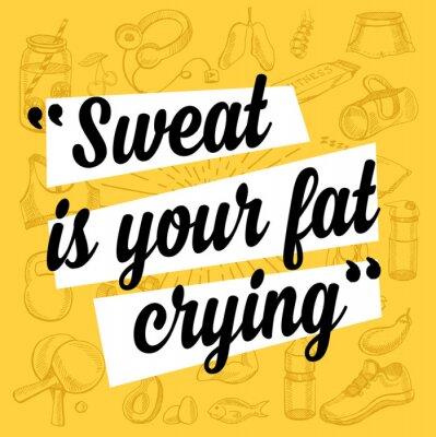 Poster Fitness motivazione manifesto preventivo.