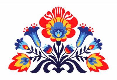 Poster folcloristici ispirati fiori polacchi