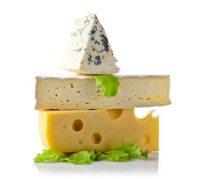 Poster formaggio isolato su bianco
