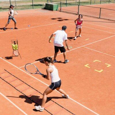 Poster formazione di tennis Cardio